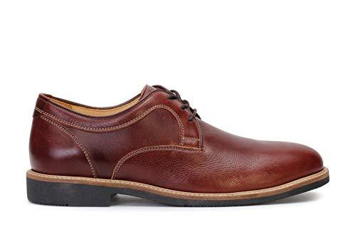 Johnston & Murphy Men's Barlow Casual Dress Plain Toe Oxford Tobacco Soft Full Grain 9 M US
