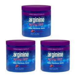 Arginine Infusion 3 Jars Cardio Health 5,000mg L-arginine, 1,000mg L-citrulline, CoQ10, & AstraGin