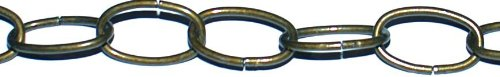 Koch 790826 Decorator Chain, Trade Size 10 by 50 Feet, Antique Brass Plated