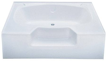 Kinro Composites W4060-SPK White 40X60 Outside Step Garden Tub