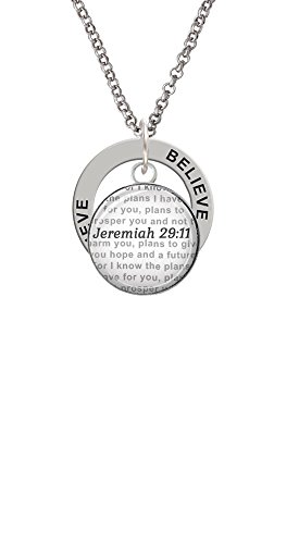Domed Jeremiah 29:11 - Believe Affirmation Ring Necklace