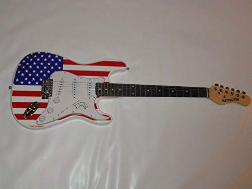 Ed Kowalczyk Autographed Signed Usa Flag Electric Guitar Live The Band Legend Proof JSA Authentic