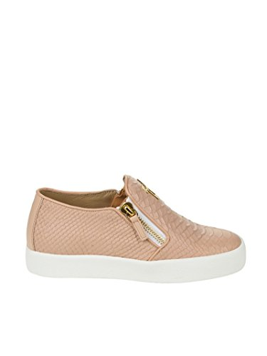 RS7006001 MC ZANOTTI DESIGN Donna Sneakers Rosa Pelle Slip GIUSEPPE On Z7qPxw