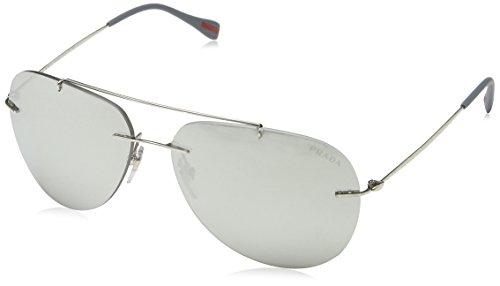 Prada (Linea Rossa) PS50PS Sunglasses-1BC/2B0 Steel (Gray Mirr Silver - Rimless Prada Glasses Frames