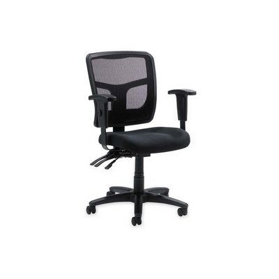 picture of Lorell 86201 Managerial Mid-Back Chair,Mesh,25-1/4 in.x23-1/2 in.x40-1/2 in.,Black