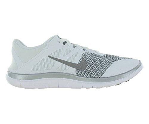 Nike Menns Free 4.0 V4 Hvit / Grå Løpesko 7,5 M Oss