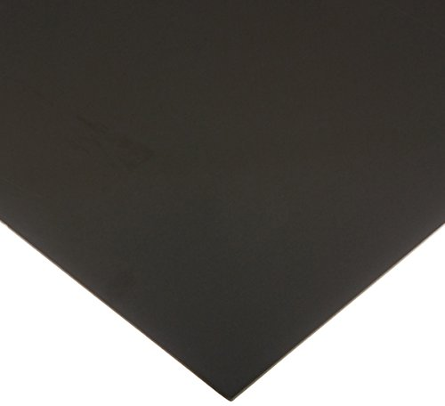Celtec Expanded PVC Sheet, Satin Smooth Finish, 3mm Thick, 24' Length x 48' Width, Black