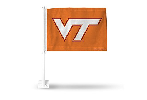 Rico NCAA Virginia Tech Hokies Car Flag, Orange, with White Pole