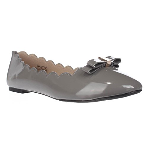 Wanted Ballet Womens Shoes Toe Closed OLIVIA Grey Flats nSRnrW8