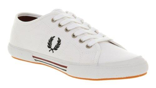 Taglia Fred B4249 Uomo Canvas 40 Tela 183 White Perry Vintage Sneaker Bianco Scarpe Tennis RYqqgrtB