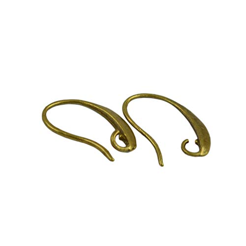 (Homyl 12Pairs Copper U Shaped Earrings Hooks for Jewelry Makings Finding DIY Craft - Retro Bronze)