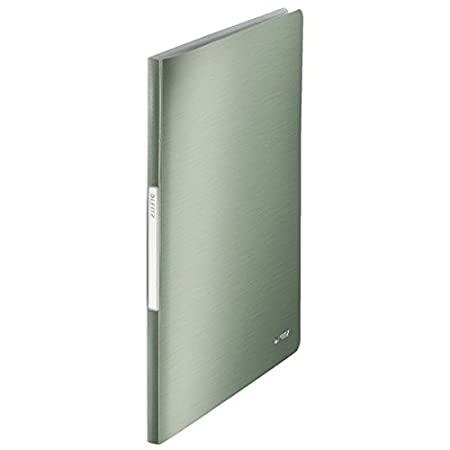 Polipropilene Verde Celadon Capacit/à 40 fogli Portalistino a fogli fissi 20 buste Leitz Style Finitura spazzolata 39580053 Buste trasparenti