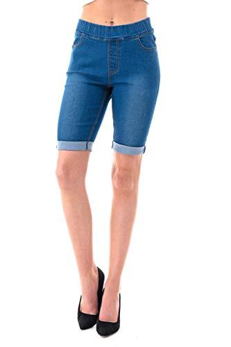 Jvini Women's Plus Size Stretchy Cuff Skinny