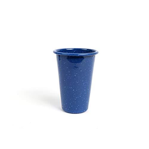 Enamelware Tumbler, 14 ounce, Blue Stinson (4)