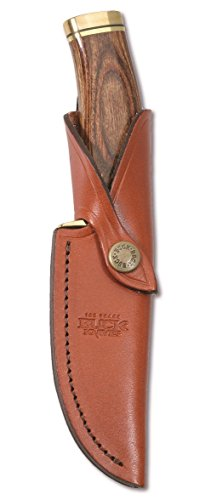 Buck Knives 0192BRS VANGUARD Fixed Blade Knife with Genuine Leather Sheath