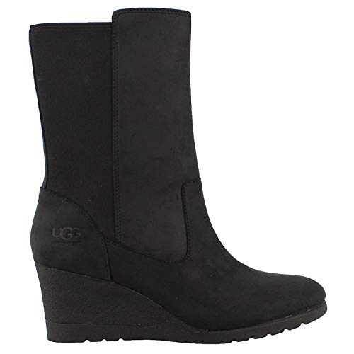 UGG Women's W Coraline Boot Fashion, Black, 8 M US (Ugg Women Wedge Boots)