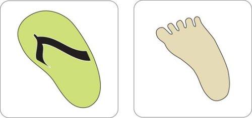 Cuttlebug 2 Step Dies (Set of 2), Flip-Flop (Flip Flops Die Cut)
