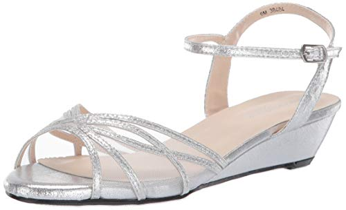 Touch Ups Prom Shoes - Touch Ups Women's Desi Wedge Sandal Silver 11 M US