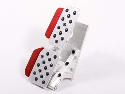 Rennline Rev4 4PC Pedal Set Rubber Grip Silver/Red for Porsche ()