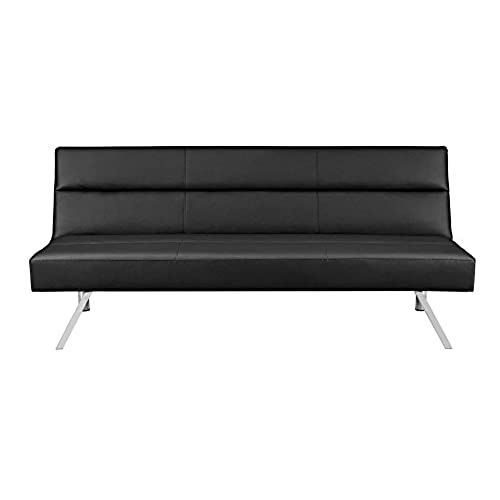 Good Premium Sofa Futon Couch, Modern Design W/Rich Faux Leather, Sturdy  Stainless Steel Legs And Comfortable Memory Foam Cushion, From Sofa To Bed  In Seconds