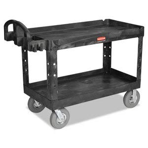 Rubbermaid Commercial Products Rcp 4546 Bei Hd Utility Cart| 2 Shelf RCP 4546 BEI