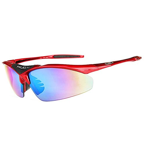 (VDV Bicycle Accessories RIDECYLE UV400 Lens Polarized TR90 Sports Cycling Glasses Men MTB Mountain Road Bike Bicycle Cycling Eyewear Sunglasses Bicycle Accessories for Men-Red)