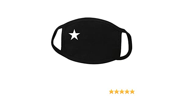 dukesong Unisex Anti-dust White Star Pattern Cotton Elastic Band Earloop Face Mouth Earloop
