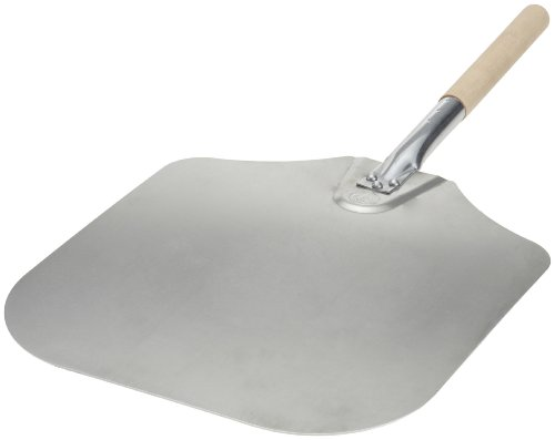 Kitchen Supply 14-Inch x 16-Inch Aluminum Pizza Peel with Wood Handle (Pizza Oven Parts compare prices)