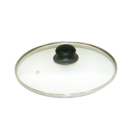 Axentia 222222 Glasdeckel mit Edelstahlrand 20 cm