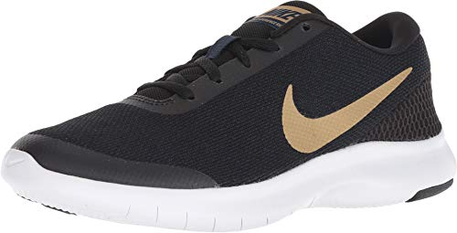 Nike Women's Flex Experience RN 7 Running Shoe Black/Metallic Gold/Obsidian/White Size 7 M US