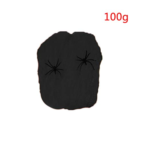 Halloween Stretchy Spider Web Horror DIY Cobweb Prop for Halloween Scary Party Scene Decoration