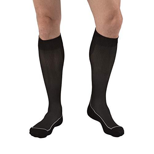 JOBST Sport Knee High 15-20 mmHg Compression Socks, Black/Cool Black, X-Large (Best Compression Socks For Standing All Day)