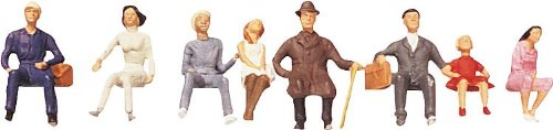 (Faller 150703 Sitting Persons III 8/HO Scale Figure Set )