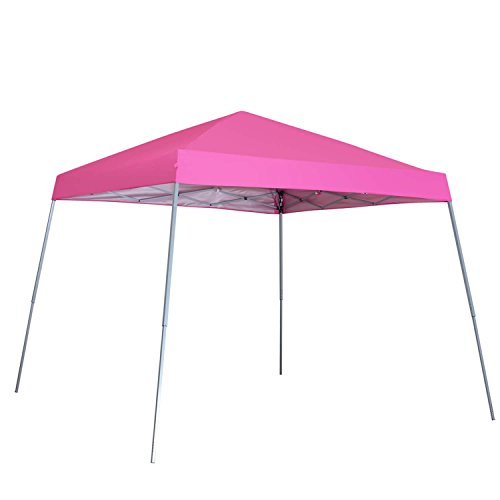 Outdoor Basic 8 x 8 Ft Canopies 10 x 10 Ft Base Slant Legs Pop up Canopy Tent For Camping Party Pink by Outdoor Basic