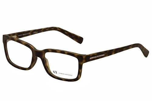 Armani Exchange AX3022 Eyeglass Frames 8029-54 - Matte Tortoise AX3022-8029-54 - Armani Eyewear Eyeglasses