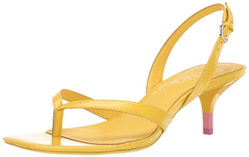 - Calvin Klein Women's Monty Heeled Sandal, Lemon, 9 M M US