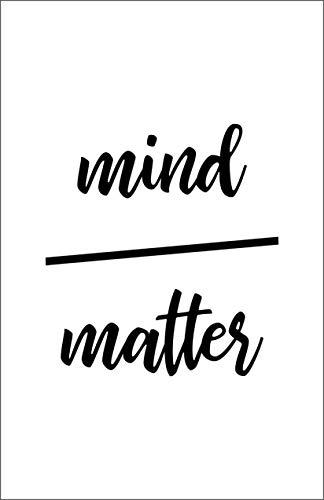 Damdekoli Mind Over Matter Motivational Poster, 11x17 Inches, Wall Art, Hustling, Entrepreneur Decoration, Inspirational Business Print -