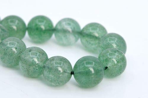 9mm Genuine Natural Green Strawberry Quartz Beads Grade Round Loose Beads 7'' Crafting Key Chain Bracelet Necklace Jewelry Accessories Pendants
