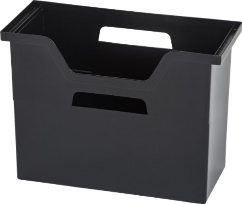 IRIS Desktop File Box, 6 Pack, Medium, Black