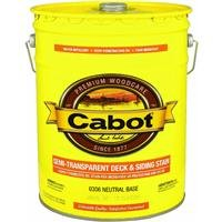 CABOT SAMUEL INC 0306-08 5GAL NTRL Semi T Stain, Neutral Base Cabot Semi Transparent Oil Stain