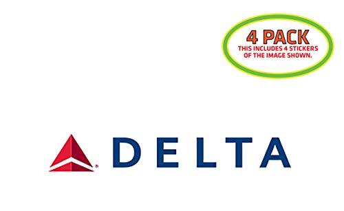 HTM Delta Airlines Sticker Vinyl Decal 4 Pack