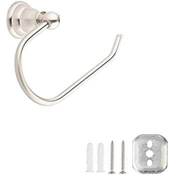 AmazonBasics AB-BR831-SN Toilet Paper Holder, Satin Nickel