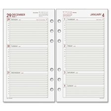 Day Runner 063285Y Weekly Refill Pages, 2PPW, Jan-Dec, 3-3/4