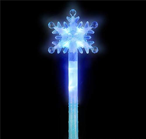 DollarItemDirect 15 inches Light-Up Snowflake Wand, Case of 96 -