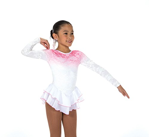(Jerry's Ice Skating Dress - 165 Blush in a Hush Dress (White, Size 10-12))
