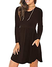 Unbranded Womens Sleeveless Loose Plain Dresses Casual Short Dress with Pockets