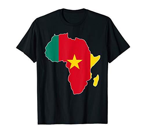 Cameroon flag t-shirt Africa map t-shirt (Flag Cameroon T-shirt)