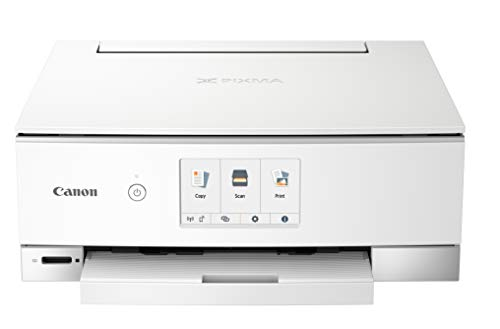 Canon PIXMA TS8320 Inkjet Wireless Color Printer All In One, Copier, Scanner, White