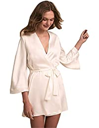 bbac3b54b6 Bridal Robes Wedding Party Loungewear Nightgown Long Bathrobe Pajamas  Sleepwear with Belt · Kelaixiang