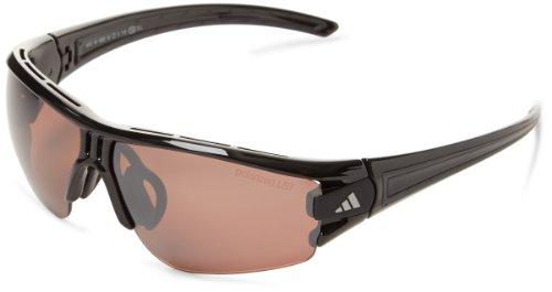 adidas Evil Eye Halfrim Xs Rectangular Sunglasses, Shiny Black, 62 - Adidas Casual Sunglasses